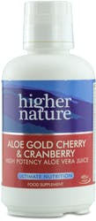 Higher Nature Aloe Gold Cherry & Cranberry 485ml