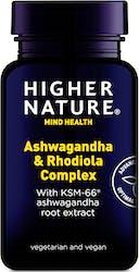 Higher Nature Ashwagandha & Rhodiola 30 Capsules