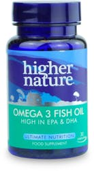Higher Nature Omega 3 Fish Oil 30 Capsules