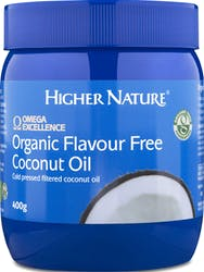 Higher Nature Organic Flavour Free Coconut Oil 400g