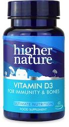 Higher Nature Vitamin D3 500iu 60 Capsules
