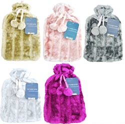 Hot Water Bottle with Luxury Faux Fur Cover