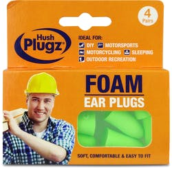 Hush Plugz DIY Foam Ear Plugs 4 pairs