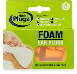 Hush Plugz Foam Plugs 4 Pairs
