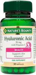 Nature's Bounty Hyaluronic Acid 20mg with Vitamin C 30 Capsules