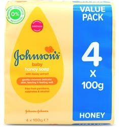 Johnson's Baby Soap With Honey 4x100g