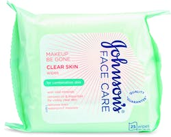 Johnson's Face Care Makeup Be Gone Clear Skin Wipes 25 Wipes