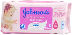 Johnson's Gentle All Over Baby Wipes 56s