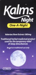 Kalms One-A-Night 21 Tablets