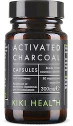 KIKI Health Activated Charcoal Vegicaps 50 Capsules