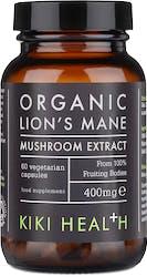Kiki Organic Lion's Mane Extract Mushroom 60 Capsules