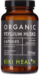 KIKI Health Organic Psyllium Husks 120 Vegicaps
