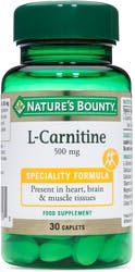 Nature's Bounty L-Carnitine 500mg 30 Caplets