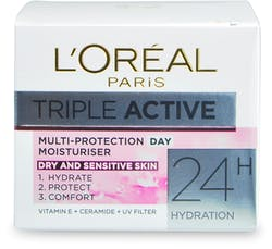 L'Oreal Paris Triple Active Day Moisturiser Dry & Sensitive Skin 50ml