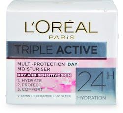 L'Oréal Paris Triple Active Day Moisturiser Dry & Sensitive Skin 50ml