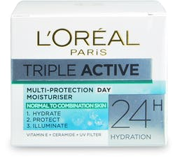 L'Oreal Paris Triple Active Day Moisturiser Normal to Combination Skin 50ml