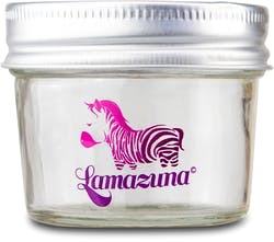 Lamazuna Glass Storage Pot (Size of a Shampoo) 1s'