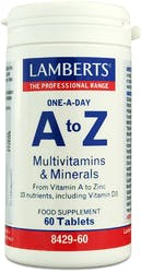 Lamberts A to Z Multivitamins and Minerals 60 Tablets