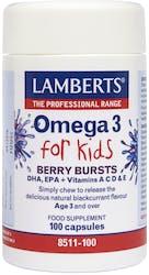 Lamberts Berry Bursts Omega 3 for Kids 100 Caps