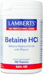 Lamberts Betaine HCl 324mg /Pepsin 5mg 180 Tablets