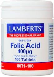 Lamberts Folic Acid 400mcg 100 Tablets