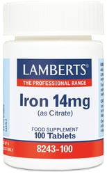 Lamberts Iron 14mg (as Citrate) 100 Tabs