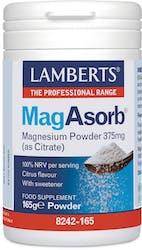 Lamberts Magasorb Magnesium Powder 375mg (As Citrate) 165g Powder