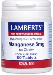 Lamberts Manganese 5mg (as Citrate) 100 tablets