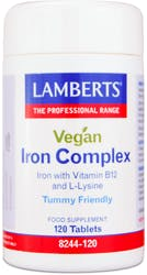 Lamberts Vegan Iron Complex (With Vitamin B12 And L-Lysine) 120 tablets