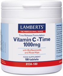 Lamberts Vitamin C-Time Release 1000mg 180 Tablets