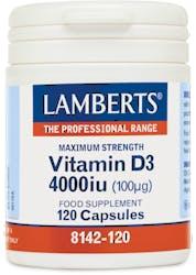Lamberts Vitamin D3 4000Iu (100µg) 120 Caps