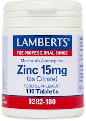 Lamberts Zinc 15mg (As Citrate) 180 Tablets