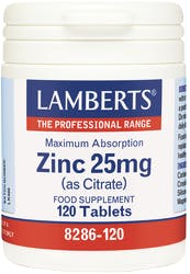 Lamberts Zinc Citrate 25mg 120 tablets