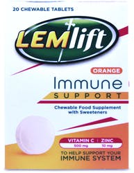 Lemlift Immune Support Orange 20 Chewable Tablets