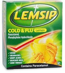 Lemsip Cold & Flu Lemon Sachets 10 Sachets