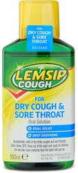 Lemsip Cough for Dry Cough & Sore Throat 180ml