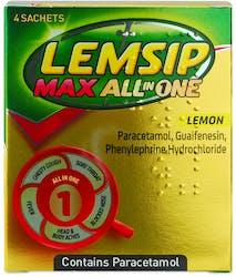 Lemsip Max All in One Lemon 4 Sachets