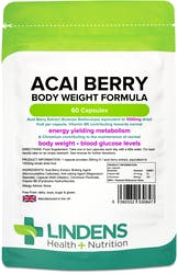 Lindens Acai Berry Body Weight Formula 1000mg 60 Capsules