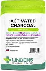 Lindens Activated Charcoal 400mg 120 capsules