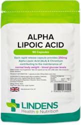 Lindens Alpha Lipoic Acid 250mg 90 Capsules