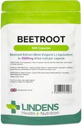 Lindens Beetroot 3500mg 500 Capsules
