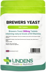 Lindens Brewers Yeast 300mg 500 Tablets