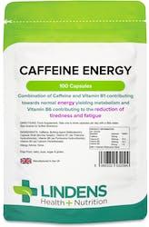 Lindens Health + Nutrition Caffeine Energy 200mg 100 Capsules