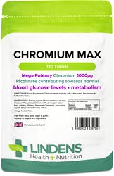 Lindens Health + Nutrition Chromium Max 1000mcg 120 Tablets
