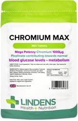 Lindens Health + Nutrition Chromium Max 1000mcg 360 Tablets