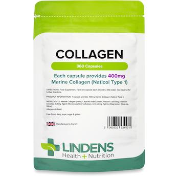 Lindens Collagen (Marine) 400mg 360 Capsules