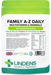 Lindens Health + Nutrition Family A-Z Daily Multivitamin 90 Chewables