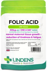 Lindens Folic Acid 400mcg 240 Tablets