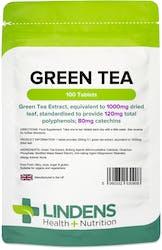 Lindens Health + Nutrition Green Tea 1000mg 100 Tablets