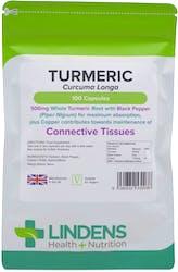 Lindens Health + Nutrition Turmeric 500mg 100 Capsules